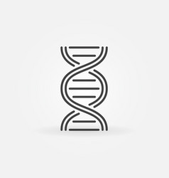 Dna structure icon in thin line style vector