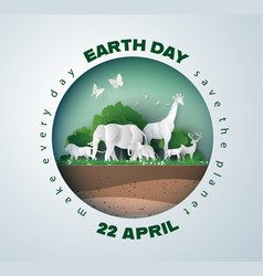 earth day concept vector image