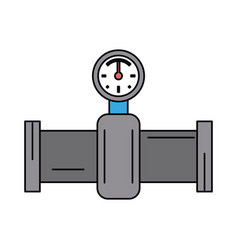 Gauge and pipe icon image vector