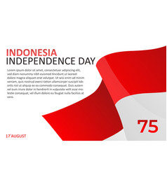 Graphic of 75th indonesian independence day vector