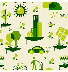 Green city pattern vector