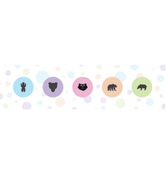 grizzly icons vector image