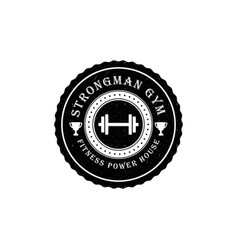 gym logo or badge in vintage style vector image