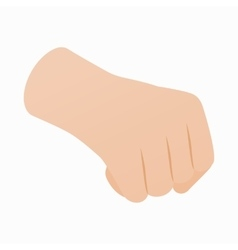 Hand with clenched fist icon isometric 3d style vector