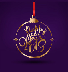 happy new year 2019 greetings with lettering logo vector image