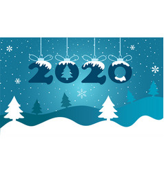 happy new year 2020 greeting card vector image