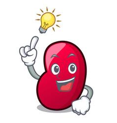have an idea jelly bean mascot cartoon vector image