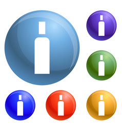 High density bottle icons set vector