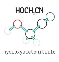 HOCH2CN hydroxyacetonitrile molecule vector image
