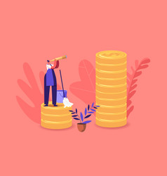 Income class tiny housewife or cleaning service vector