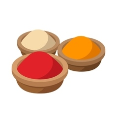 Indian spices icon cartoon style vector