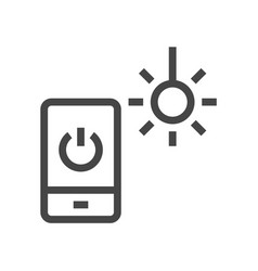 Internet things smart house line icons set vector
