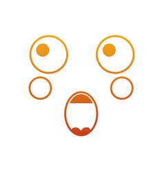 Kawaii face expression facial gesture cartoon vector