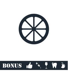 lemon icon flat vector image