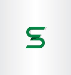 letter s logotype s icon logo green sign vector image