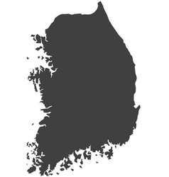 Map of south korea vector