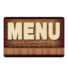 Menu Woode Beckground Design vector