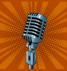 Microphone pop art style vector