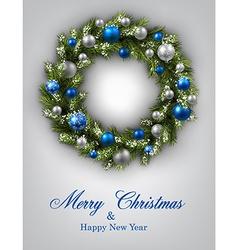 New Year and xmas card vector image