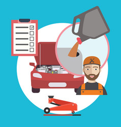 oil change car service concept flat vector image