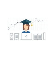 Online education and courses Project management vector image vector image