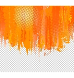 Orange Grunge Paint Splashes Background vector image