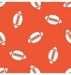 Orange rugby pattern vector