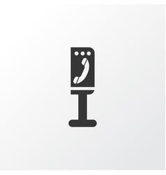 Payphone icon symbol premium quality isolated vector