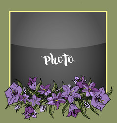 photoframe polaroid flowers vector image