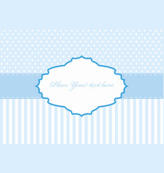 Polka dot design blue frame vector