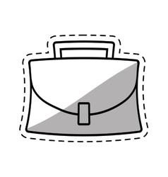 Portfolio suitcase business icon cut shadow vector