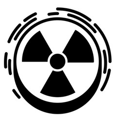 radiation sign icon simple style vector image