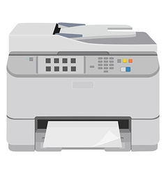 Realistic printer scanner vector
