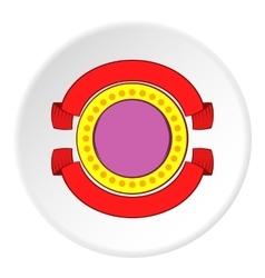 Round decorative label icon cartoon style vector