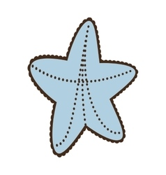 sea starfish concept vacation beach vector image