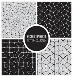 Seamless BW Pattern Mosaic Collection vector image