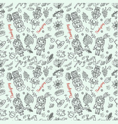 Seamless pattern 2 in childrens drawing style vector