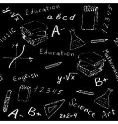 seamless school board vector image