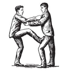 Self-defense vintage vector