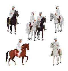 Set of arabian riders vector