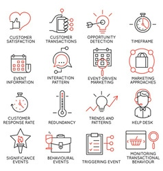 Set of icons related to business management - 34 vector