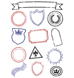set of stamps vector image vector image