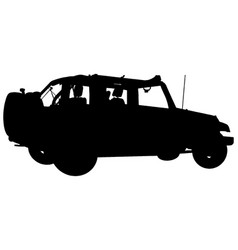 silhouette off road 4x4 vehicle vector image