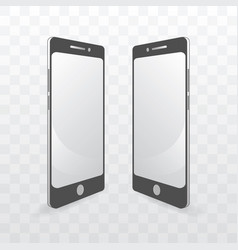 Smart phone monochrome template vector