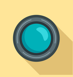smartphone lens icon flat style vector image