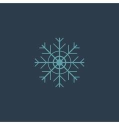 Snowflake flat icon EPS vector image