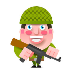 soldier with gun and paint vector image