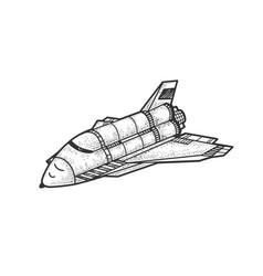 Space shuttle sketch vector