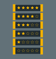 Star rating in dark theme vector