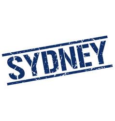 Sydney blue square stamp vector